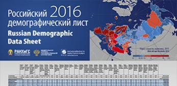 Russian Demographic Data Sheet 2016