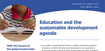 Education and the sustainable development agenda
