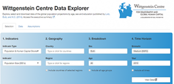 Introduction to the Wittgenstein Centre Data and Graphic Explorer