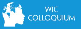 WIC Colloquium 17.10.2019, 13:00