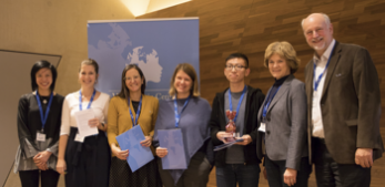 Congratulations! The poster award ceremony at Wittgenstein Centre's annual conference