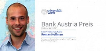 Roman Hoffmann receives Bank Austria Prize 2017