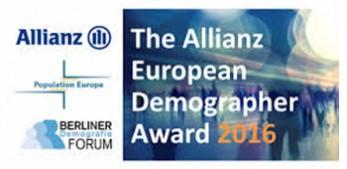 Tomas Sobotka receives the Allianz European Demographer Award 2017