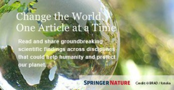 """Springer Nature added an article by Centre scientist Anna Matysiak to their """"Change the World"""" selection"""