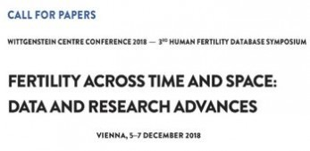 Call for Papers: Fertility Across Time and Space - Data and Research Advances