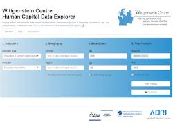 Wittgenstein Centre Human Capital Data Explorer 2.0